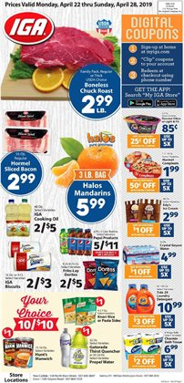 IGA deals in the Fresno CA weekly ad