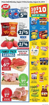 IGA deals in the Peoria IL weekly ad