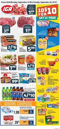 Grocery & Drug deals in the IGA weekly ad in Johnstown PA
