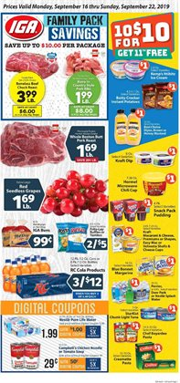 IGA deals in the Boston MA weekly ad
