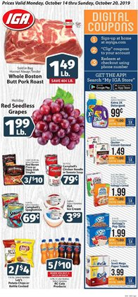 Grocery & Drug deals in the IGA weekly ad in Pontiac MI