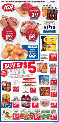 IGA deals in the Flushing NY weekly ad