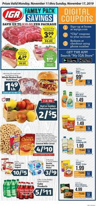 IGA deals in the Evansville IN weekly ad