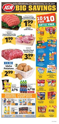 IGA deals in the Pismo Beach CA weekly ad