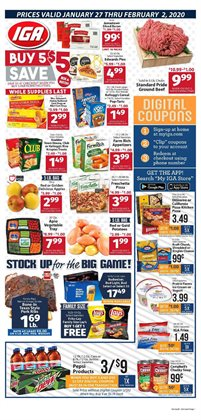 Grocery & Drug deals in the IGA weekly ad in Dubuque IA