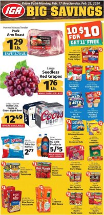 IGA catalogue ( 1 day ago )