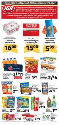 Grocery & Drug offers in the IGA catalogue in San Bernardino CA ( Expires today )