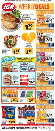 Grocery & Drug offers in the IGA catalogue in Hialeah FL ( 2 days left )