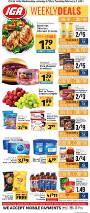 Grocery & Drug offers in the IGA catalogue in Fontana CA ( 1 day ago )