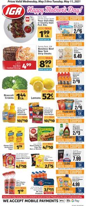 Mother's Day deals in the IGA catalog ( 3 days left)
