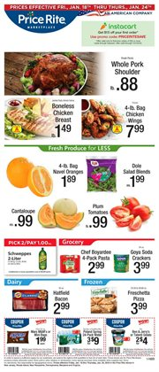 Grocery & Drug deals in the Price Rite weekly ad in Philadelphia PA