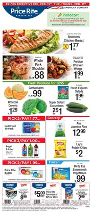 Fruit and vegetables deals in the Price Rite weekly ad in New York
