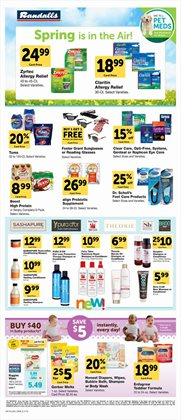 Optical items deals in the Randalls weekly ad in Humble TX