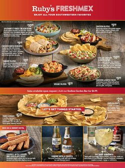 Restaurants deals in the Ruby Tuesday catalog ( 8 days left)