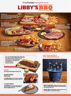 Restaurants deals in the Ruby Tuesday catalog ( 10 days left)