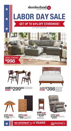 Home & Furniture deals in the Slumberland Furniture weekly ad in Springfield MO