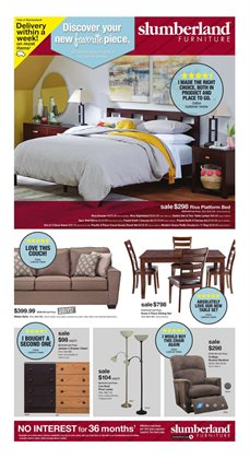 Home & Furniture deals in the Slumberland Furniture weekly ad in Iowa City IA