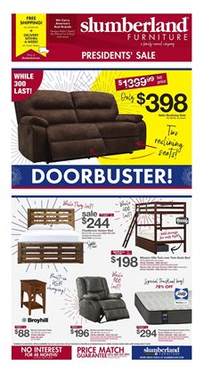 Home & Furniture offers in the Slumberland Furniture catalogue in Dubuque IA ( Expires tomorrow )