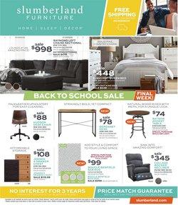 Home & Furniture deals in the Slumberland Furniture catalog ( 2 days left)