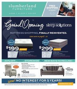 Home & Furniture deals in the Slumberland Furniture catalog ( Expires tomorrow)
