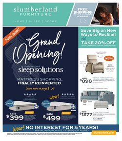 Home & Furniture deals in the Slumberland Furniture catalog ( Expires today)