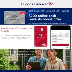 Banks deals in the Bank of America catalog ( More than a month)