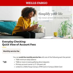 Banks deals in the Wells Fargo catalog ( More than a month)
