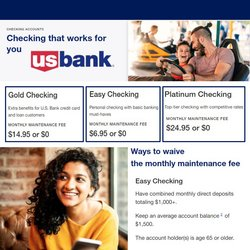 Banks deals in the US Bank catalog ( More than a month)