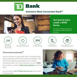 Banks deals in the TD Bank catalog ( More than a month)