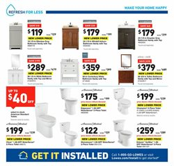 Toilets deals in the Lowe's weekly ad in Grand Rapids MI
