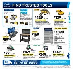 Saw deals in the Lowe's weekly ad in New York