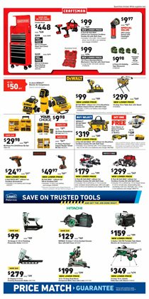 Saw deals in the Lowe's weekly ad in Poughkeepsie NY