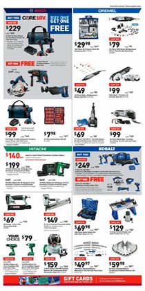 Kobalt deals in the Lowe's weekly ad in New York