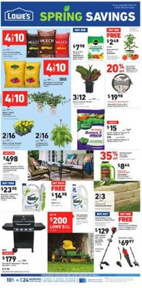 Lowe's deals in the Redding CA weekly ad