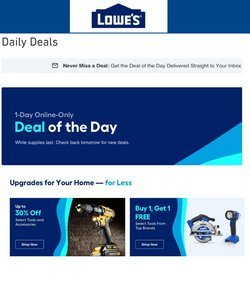 Lowe's deals in the Lowe's catalog ( Expired)