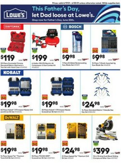 Tools & Hardware deals in the Lowe's catalog ( Expires today)