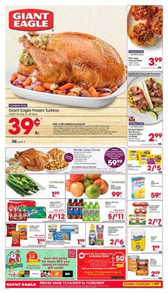 Giant Eagle deals in the Columbus OH weekly ad