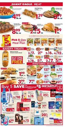 Meat deals in the Giant Eagle weekly ad in Johnstown PA