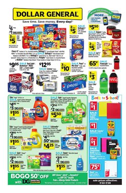 Dollar General deals in the Columbus IN weekly ad