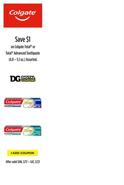Colgate deals in the Dollar General weekly ad in New York