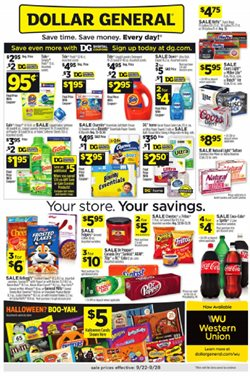 Discount Stores deals in the Dollar General weekly ad in New York
