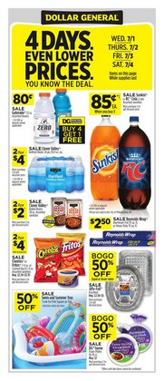 Discount Stores offers in the Dollar General catalogue in Burlington NC ( Expires tomorrow )