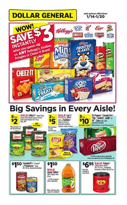 Kellogg's deals in the Dollar General weekly ad in New York