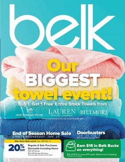 Department Stores deals in the Belk weekly ad in Dallas TX