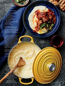 Covers deals in the Williams Sonoma weekly ad in New York