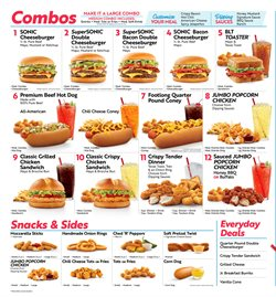 Restaurants offers in the Sonic catalogue in Tuscaloosa AL ( More than a month )