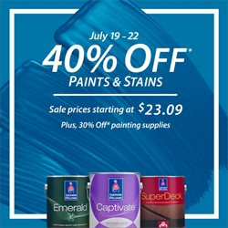Sherwin-Williams deals in the Houston TX weekly ad