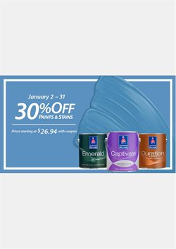 Sherwin-Williams deals in the San Luis Obispo CA weekly ad