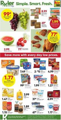 Grocery & Drug deals in the Ruler Foods catalog ( 6 days left)