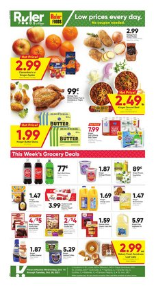 Grocery & Drug deals in the Ruler Foods catalog ( Expires today)